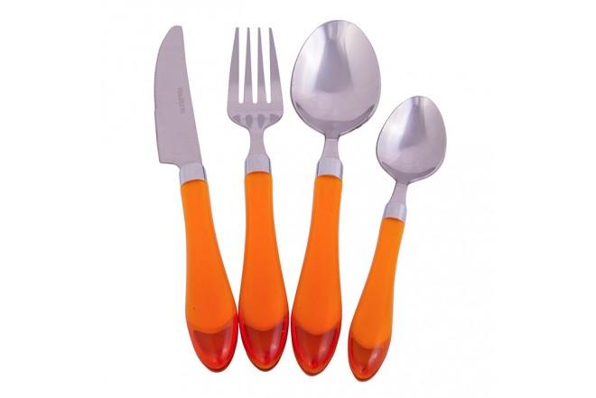 Juego de Cubiertos FREE HOME 24 Piezas 3204H-PVC Naranja