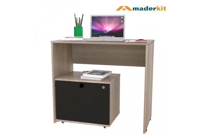 Escritorio + Archivador MADERKIT Studio Espresso Wengue