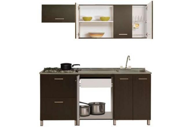 Cocina Gabinete MODUART Superior + Inferior Derecho 20116 Wengue