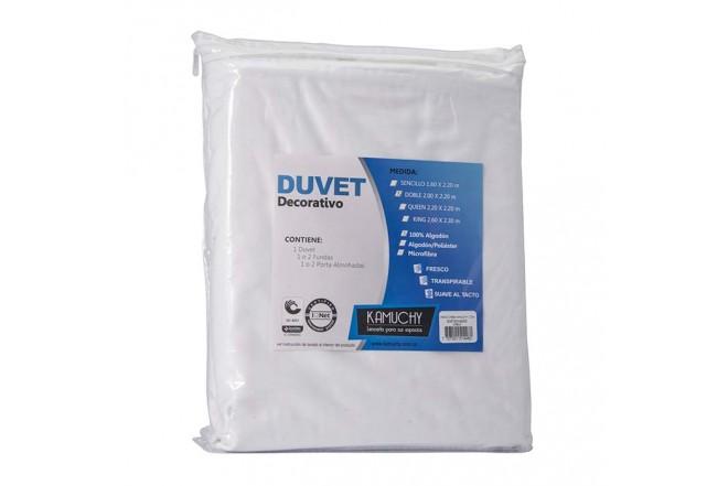 Duvet Extradoble KAMUCHY 300 Hilos Blanco