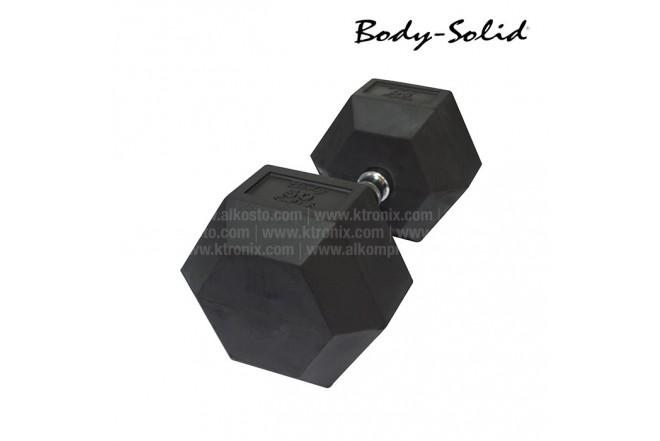 Mancuerna Hexagonal Encauchetada BODYSOLID 50LB