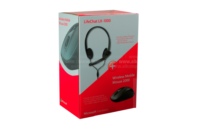 Combo MICROSOFT Diadema LX1000 + Mouse Wireless Mobile 2000