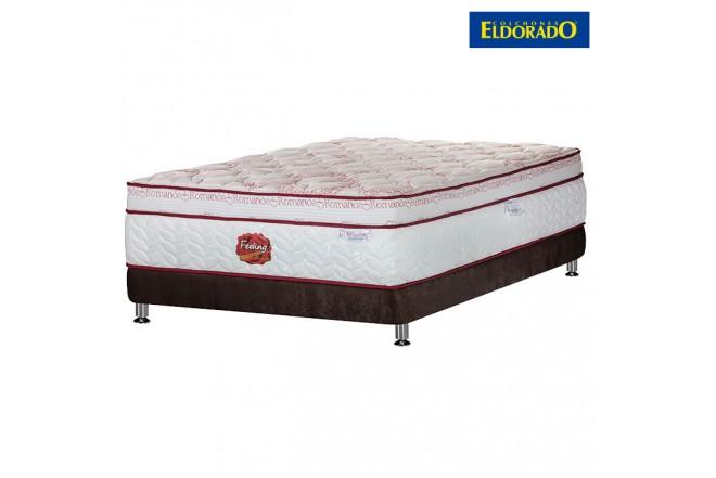 KOMBO ELDORADO: Colchón Feeling Romance King + Base cama