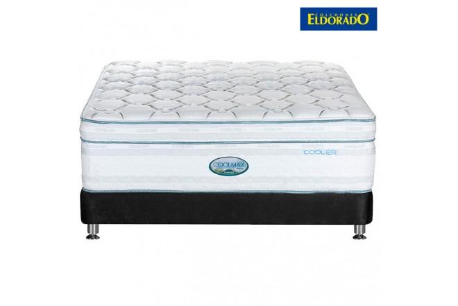 KOMBO ELDORADO: Colchón Coolmax Sencillo + Base cama Negro
