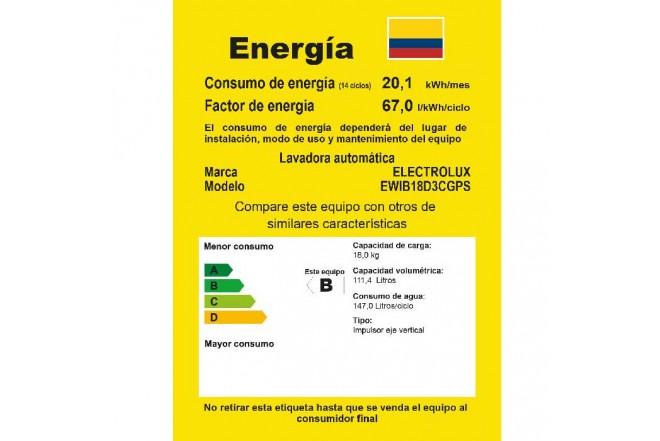 Lavadora ELECTROLUX 18Kg EWIB18D3CS GRN