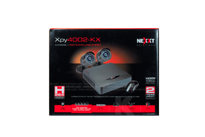 Kit Cámara Seguridad NEXXT 4 Channel/2 cámaras 500GB