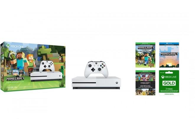 XBOX ONE S 500GB + 1 Control +  Minecraft Favorites + XBOX LIVE 3 meses-5