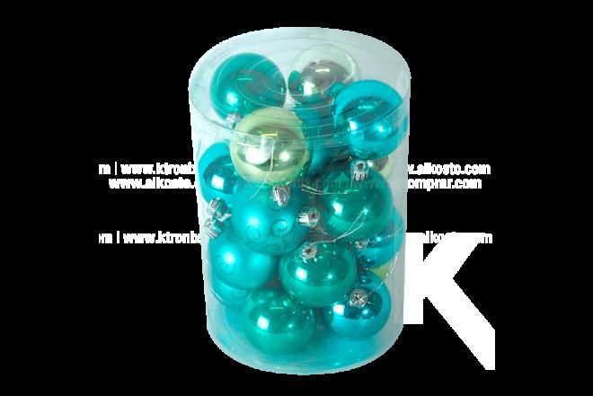 Set x 20 Esferas 6 cm Solido Surtido