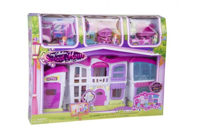Casa muñecas Shun Feng Long rosada