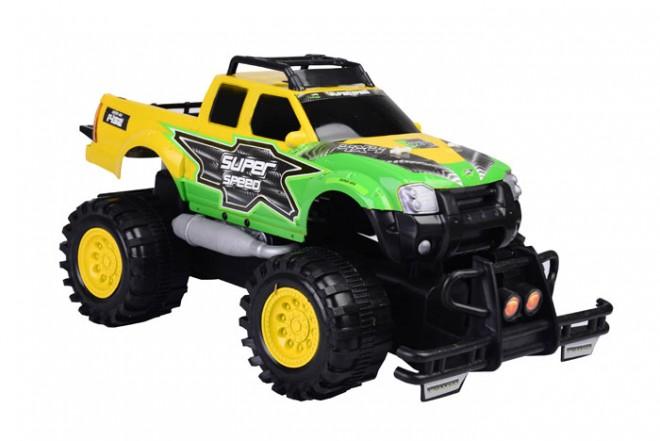 Camioneta monstruo de fricción Happy Line Verde