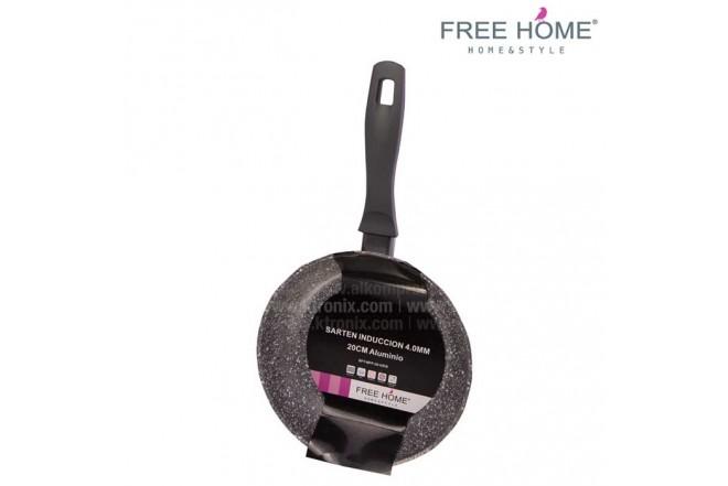 Sartén Inducción - FREE HOME 20Cm Gris 4.0 Gris -BFT-MFP