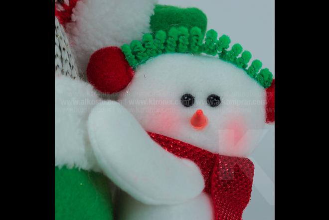 """Decoración Navideña Reno Parado Con Hombre De Nieve Pequeño 12"""""""