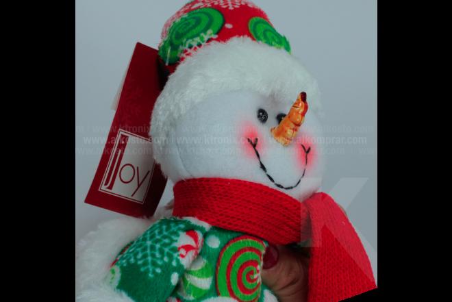 """Decoración Navideña Hombre De Nieve Sentado Patas Largas  17"""""""