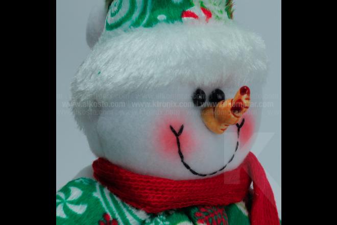 "Decoración Navideña Hombre De Nieve Sentado 10 """