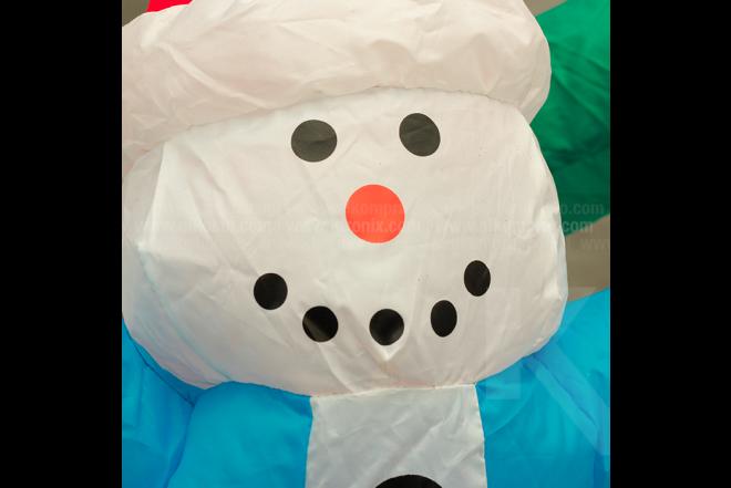 Muñeco Inflable Familia Hombre Nieve 150 cm