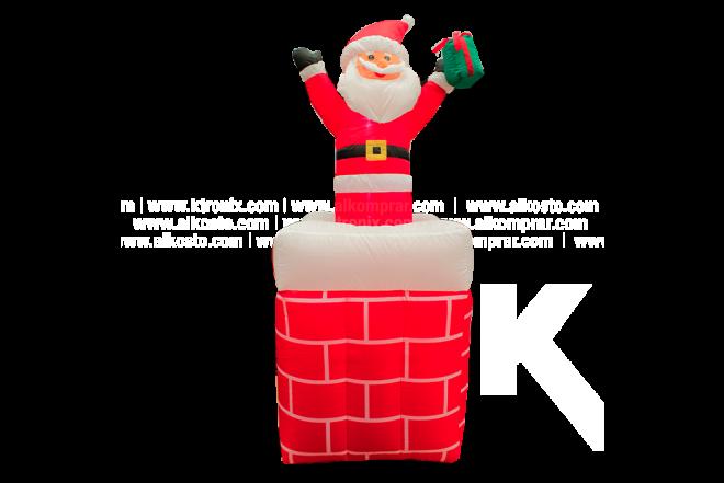 Muñeco Inflable Santa Saliendo De Chimenea 150 cm