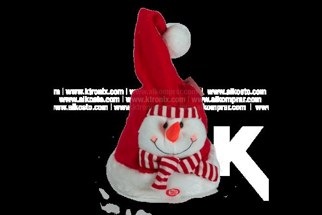 Decoración Navideña Gorro Hombre De Nieve Con Movimiento
