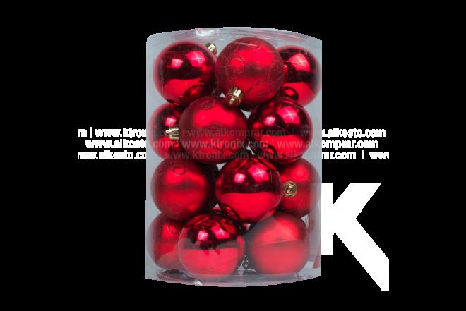 Esfera Set x 20 6 cm Espiral Color Rojo