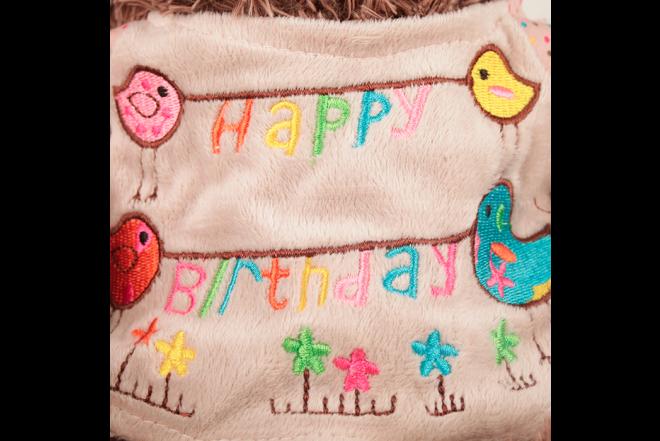 Peluche Oso Con Camiseta Happy Birthday 30 cm