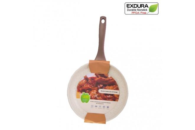 Sartén EXDURA 26 Cms Beige Apto para estufas de inducción