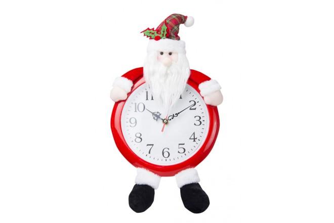 Reloj Navidad con Papa Noel Country Green