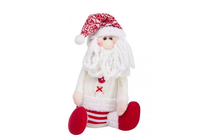Santa Sentado Sweater Blanco 50 cm