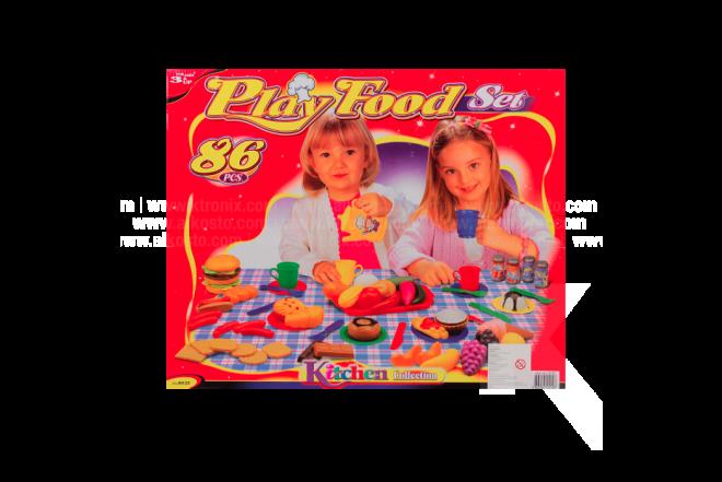 Juguete Cocina Play Food Set 86 Piezas