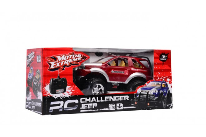 Jeep deportivo radio control escala 1:16 Happy Line rojo