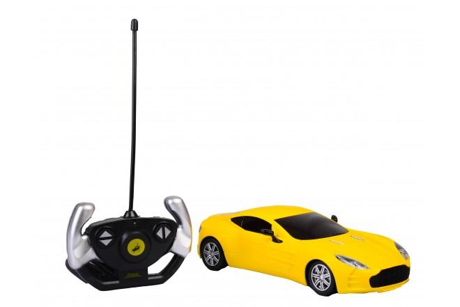 Auto deportivo radio control escala 1:16 Happy Line Amarillo