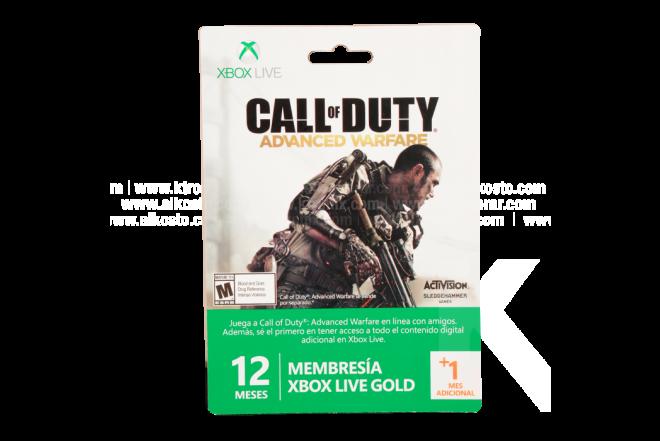 Tarjeta XBOX 360 Live 12 Meses + 1 Call Of Duty Advanced Warfare