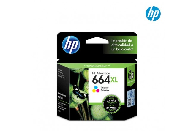 Cartucho HP 664XL Tri-color