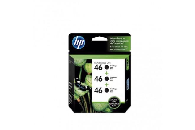 Cartucho HP 46 Black 3 Pack