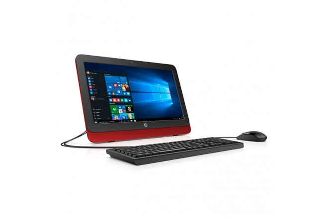 "PC All in One HP 20-R114 19.5"" Celeron® Rojo"