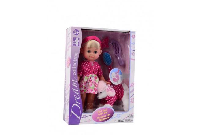 Muñeca con mascota Gigo Toys rosada