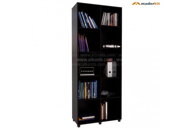 Biblioteca MADERKIT 10 Nichos Wengue