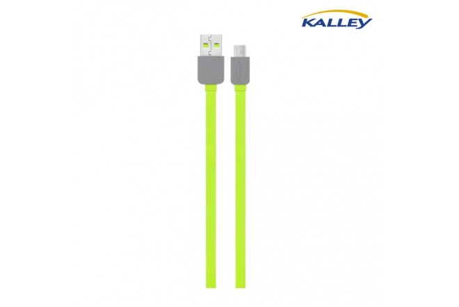 Cable USB/Micro USB Kalley Verde 1 Metro