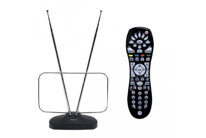 Combo  Antena TV+Control Remoto RCA