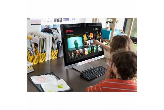 """PC All In One HP 24-B213 A10 23.8"""" Gris"""