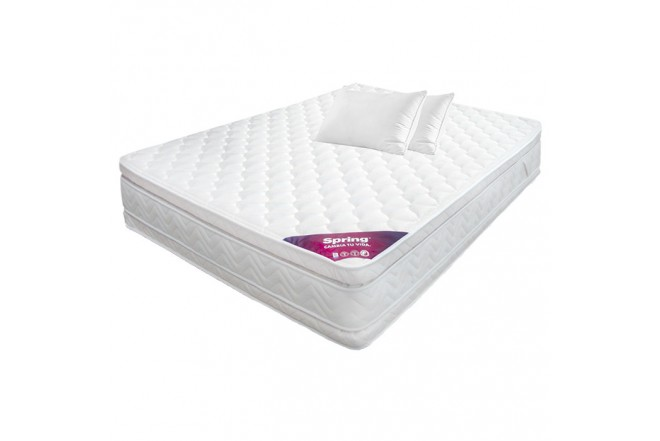 KOMBO SPRING: Colchón 120 x 190 Descanso Perfecto Semidoble + 2 Almohadas