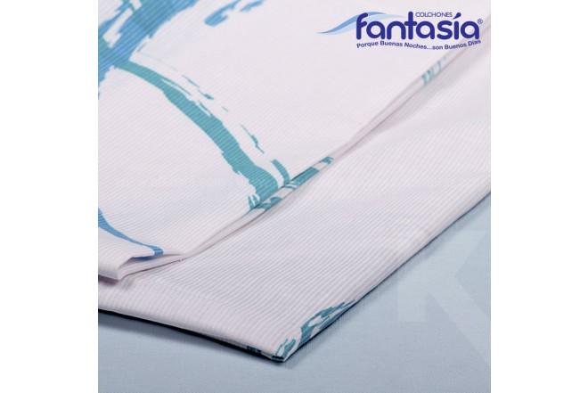KOMBO FANTASÍA: Colchón Sencillo Blue Optims + Base cama + Kit de Lencería  100x190 cms