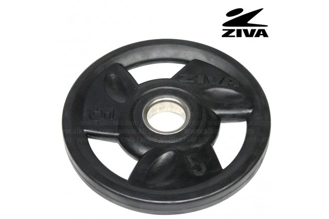 Disco encauchetado 5kg ZIVA Negro