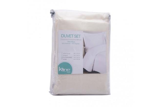 Duvet K-LINE Doble Sesgo Beige144 hilos