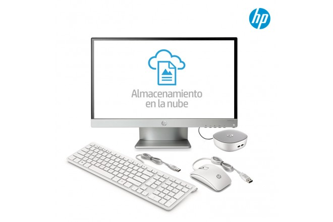 """Computador PC HP Mini 300-001 + Monitor de 22"""""""
