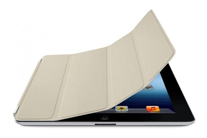 iPad SMART COVER Piel - Crema