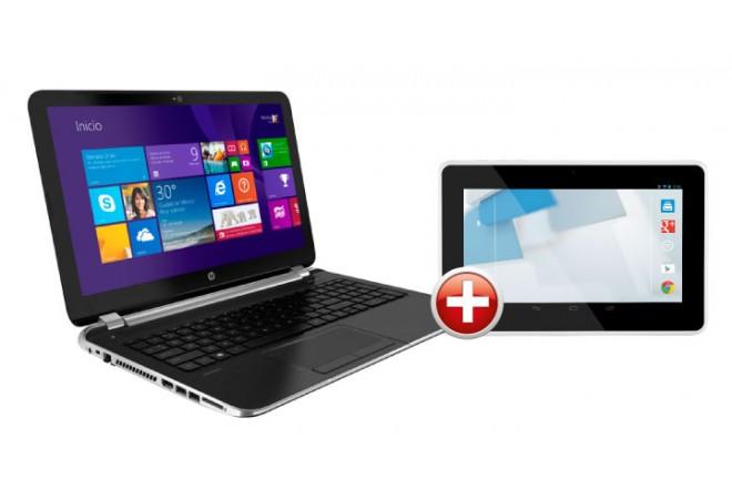 Compra Notebook HP 15-N002LA lleva de obsequio la Tablet HP Slate 7 1800