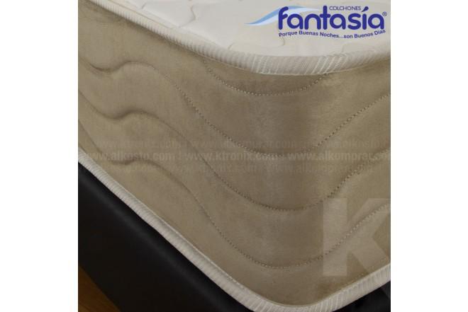 Colchón FANTASÍA Semidoble Marfil Restek 120x190 cms