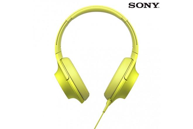 Audífonos SONY H-Res100 Alámbrico OnEar Amarillo