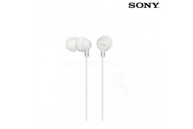 Audífonos SONY Alámbricos InEar EX15 Blanco