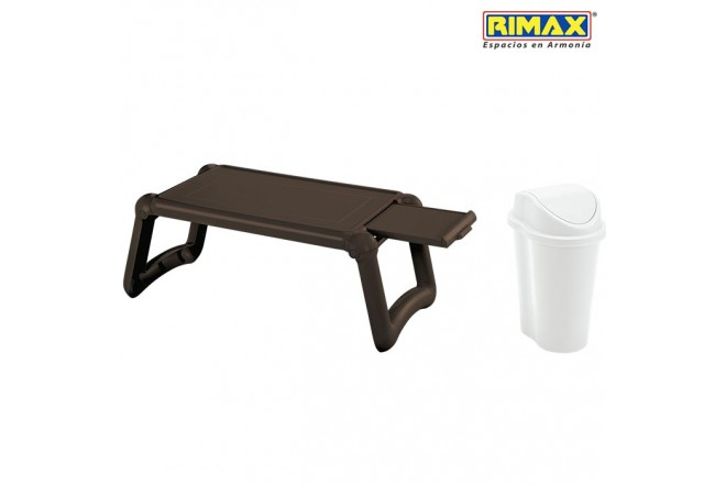 Mesa Laptop RIMAX Wengue + Papelera