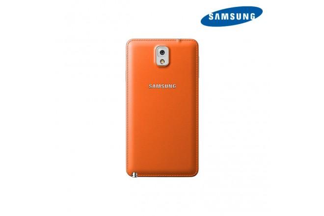 Cover Cuero SAMSUNG para Note 3 Naranja